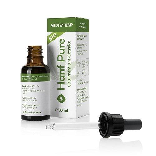 Medihemp Bio Hanf Pure 5% CBD Öl