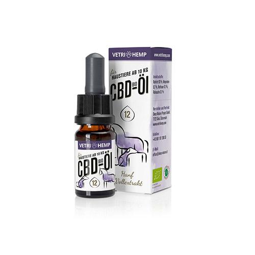 Vetrihemp Bio CBD für Tiere 12% CBD Öl