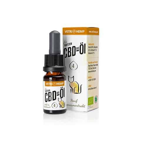 Vetrihemp Bio CBD für Katzen 4% CBD Öl