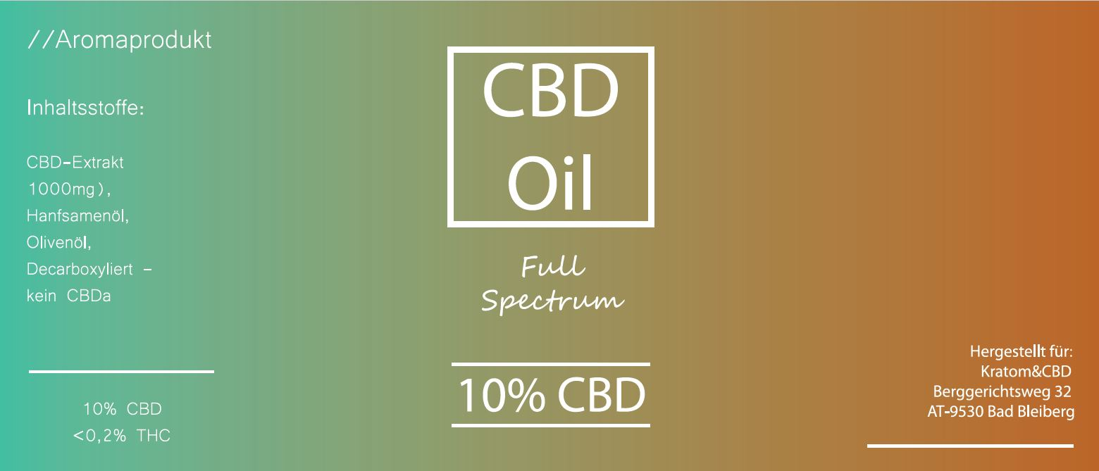 Kratom & CBD Full-Spectrum 10% CBD Öl