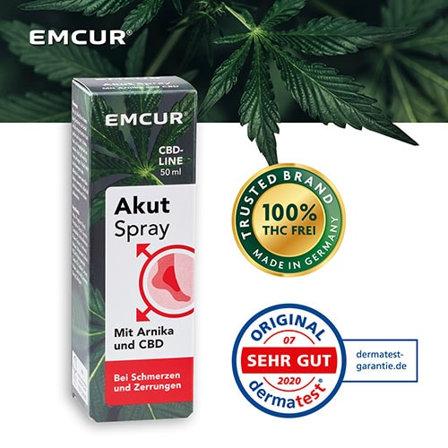 Cannabidiol und Arnika Akut Spray