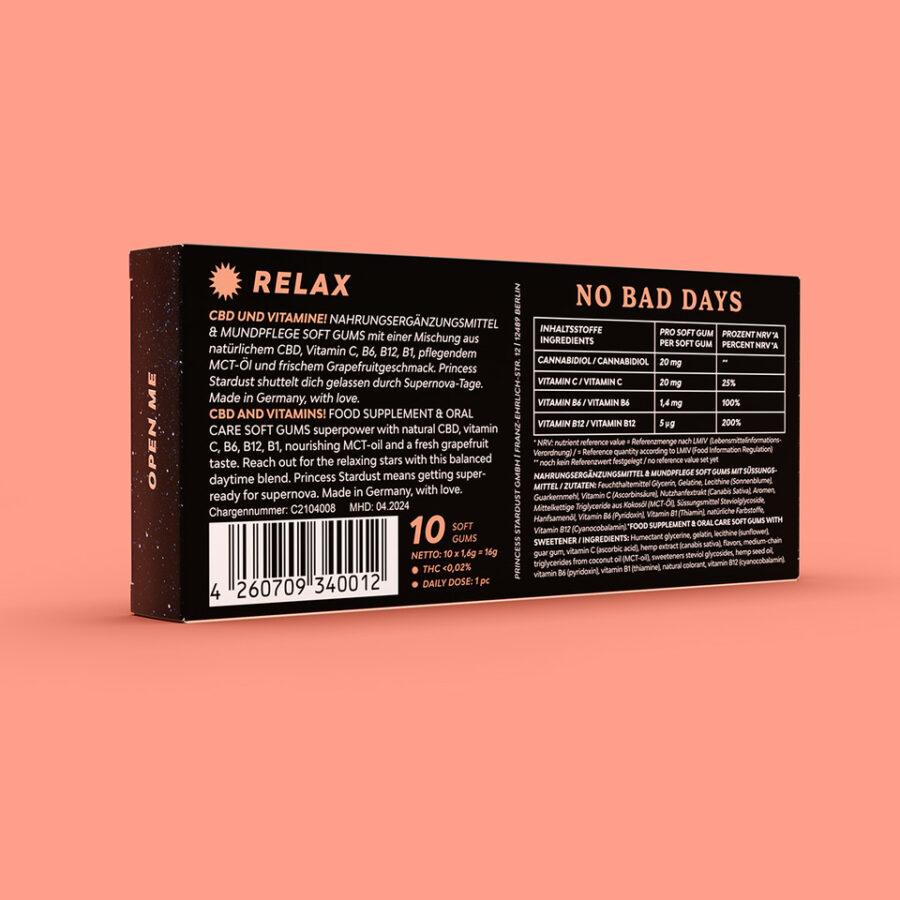 Verpackun Rückseite CBD Gum Relax