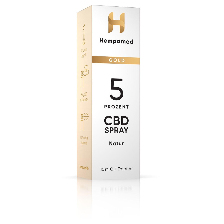 Hempamed 5% CBD Mundspray Verpackung