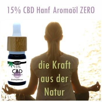 15% CBD Hanf Aromaöl Rolvit